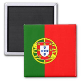 Drapeau d'aimant du Portugal (carré) Magnet Carré