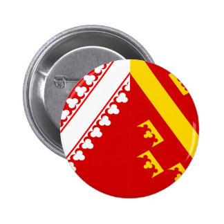 Drapeau d'Alsace (vieille), France Badges Avec Agrafe