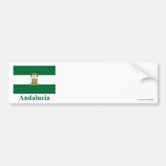Drapeau d'Andalucía avec le nom Autocollant De Voiture