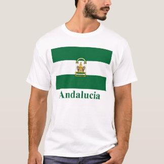 Drapeau d'Andalucía avec le nom T-shirt