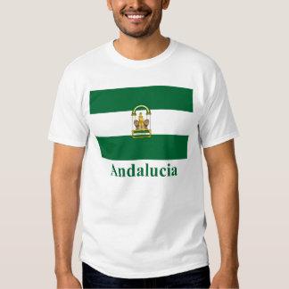 Drapeau d'Andalucía avec le nom T-shirts