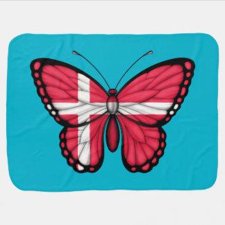 Drapeau danois de papillon couvertures pour bébé