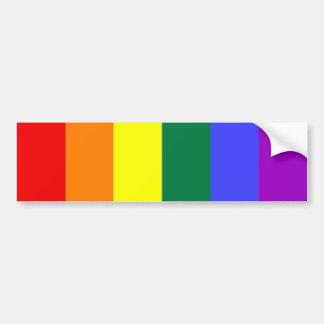 Drapeau d'arc-en-ciel de gay pride autocollant de voiture