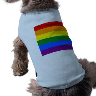 Drapeau d'arc-en-ciel t-shirt pour chien