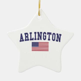 Drapeau d'Arlington VA USA Ornement Étoile En Céramique