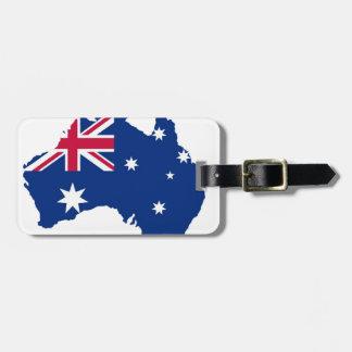 Drapeau d'Australie Australia style conception Étiquettes Bagages