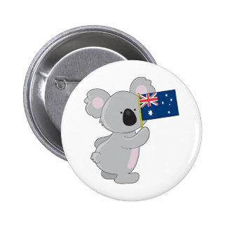 Drapeau d'Australien de koala Badges