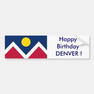 Drapeau d'autocollant de Denver, joyeux anniversai Autocollant Pour Voiture