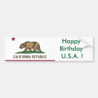 Drapeau d'autocollant de la Californie, joyeux Autocollant Pour Voiture