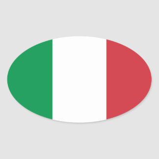 Drapeau d'autocollant d'ovale de l'Italie