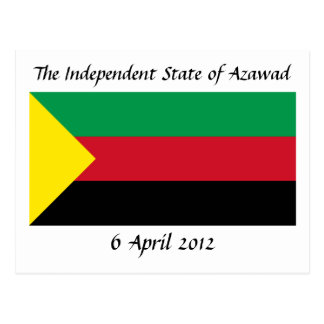 Drapeau d'Azawad Carte Postale