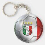 Drapeau de ballon de football de l'Italie Forza Az Porte-clé