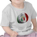 Drapeau de ballon de football de l'Italie Forza Az T-shirt