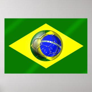 Drapeau de ballon de football du Brésil Futebol Ba
