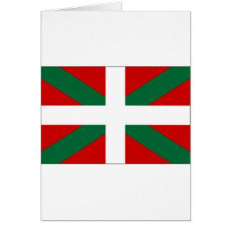 Drapeau de basque de l'Espagne Carte De Vœux