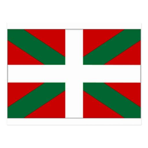 Drapeau de basque de l'Espagne Cartes Postales