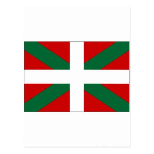 Drapeau de basque de l'Espagne Carte Postale