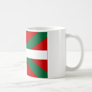 Drapeau de basque de l'Espagne Mug Blanc