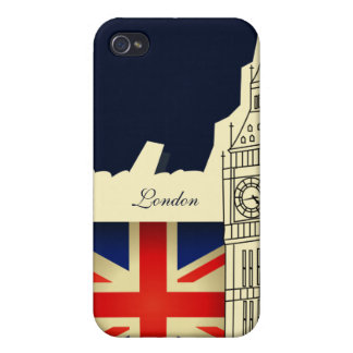 Drapeau de Big Ben Grande-Bretagne de ville de Coque iPhone 4 Et 4S