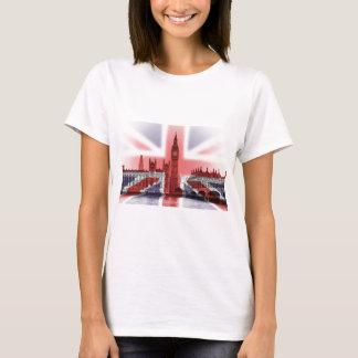 Drapeau de Big Ben Londres et d'Union Jack T-shirt
