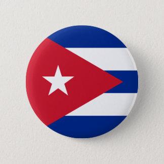 Drapeau de bouton du Cuba Badge