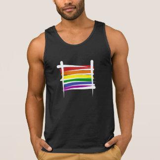 Drapeau de brosse de gay pride d'arc-en-ciel