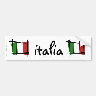Drapeau de brosse de l Italie Adhésif Pour Voiture