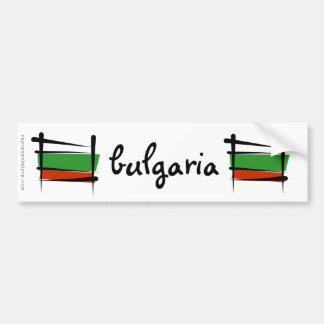 Drapeau de brosse de la Bulgarie Autocollant Pour Voiture