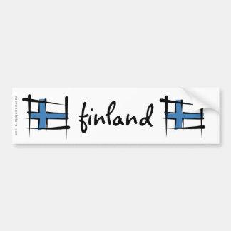 Drapeau de brosse de la Finlande Autocollant De Voiture