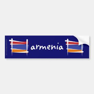 Drapeau de brosse de l'Arménie Autocollant De Voiture