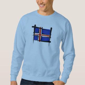 Drapeau de brosse de l'Islande Sweatshirt