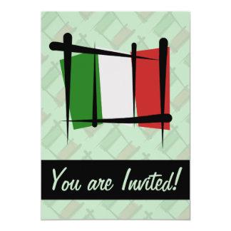 Drapeau de brosse de l'Italie Carton D'invitation 12,7 Cm X 17,78 Cm