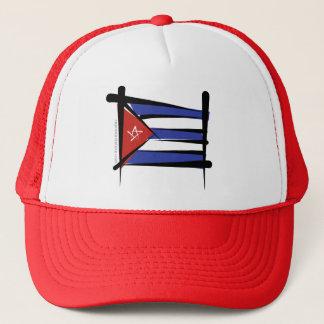 Drapeau de brosse du Cuba Casquette