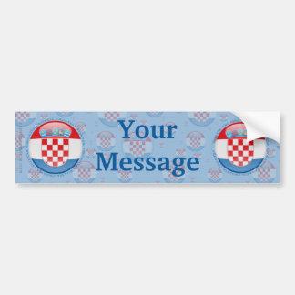 Drapeau de bulle de la Croatie Autocollant De Voiture
