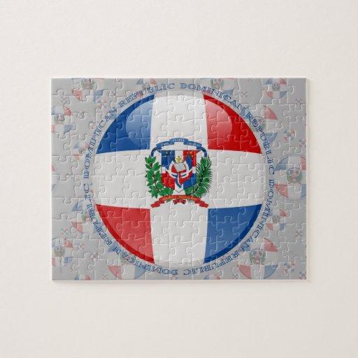 Drapeau de bulle de la République Dominicaine Puzzle Avec Photo