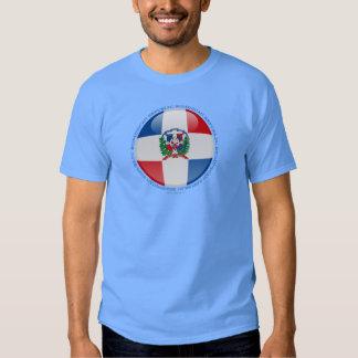 Drapeau de bulle de la République Dominicaine T-shirts