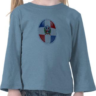 Drapeau de bulle de la République Dominicaine T-shirt