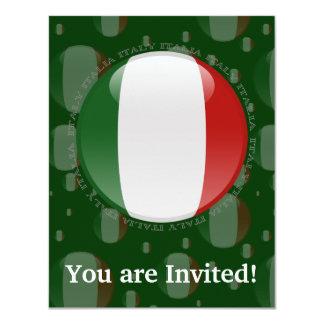 Drapeau de bulle de l'Italie Carton D'invitation 10,79 Cm X 13,97 Cm