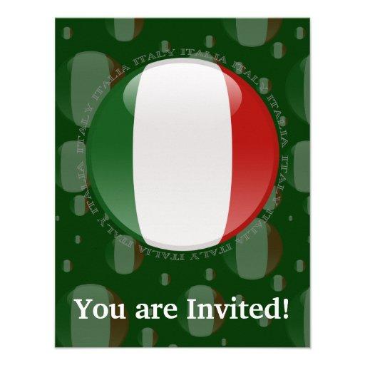 Drapeau de bulle de l'Italie Faire-parts