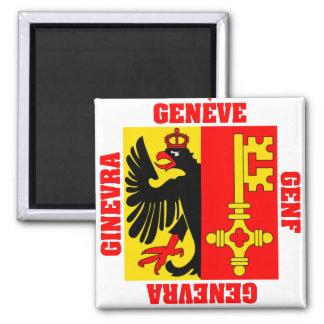 Drapeau de canton de Genève Suisse Magnet Carré