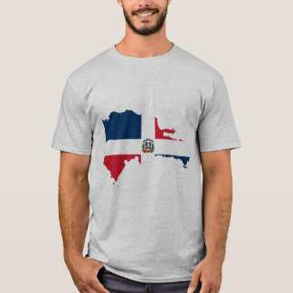 Drapeau de carte de la République Dominicaine T-shirt