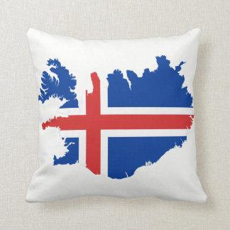Drapeau de carte de l'Islande Coussin