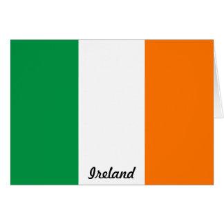 Drapeau de carte de note de l'Irlande