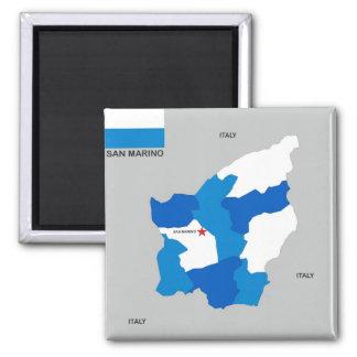 drapeau de carte de pays du Saint-Marin Aimant