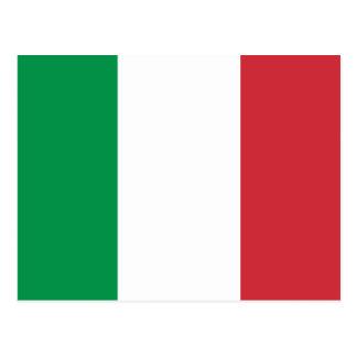 Drapeau de carte postale de l'Italie