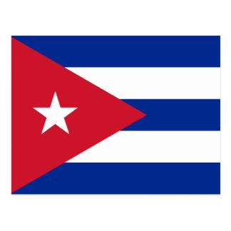 Drapeau de carte postale du Cuba