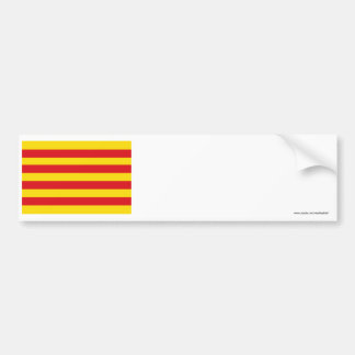 Drapeau de Cataluña Autocollant De Voiture