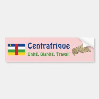 Drapeau de Centrafrique + Adhésif pour pare-chocs  Autocollant Pour Voiture