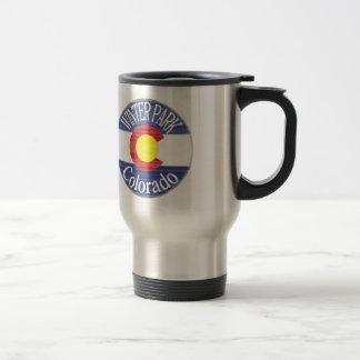 Drapeau de cercle du Colorado de parc d'hiver Mug De Voyage