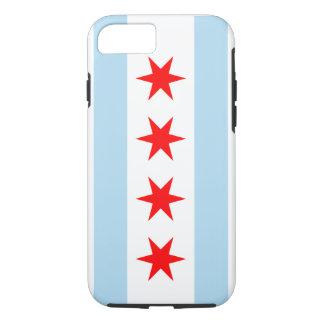 Drapeau de Chicago - cas d'Iphone 7 (cas dur) Coque iPhone 7